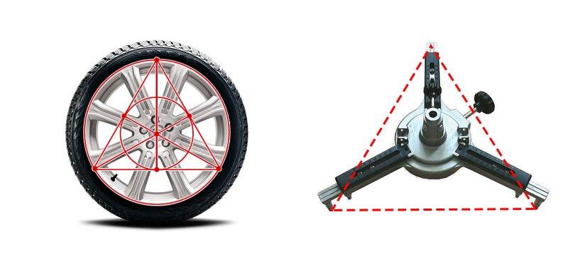3-х точечный зажим позволяет не проводить прокатку автомобиля